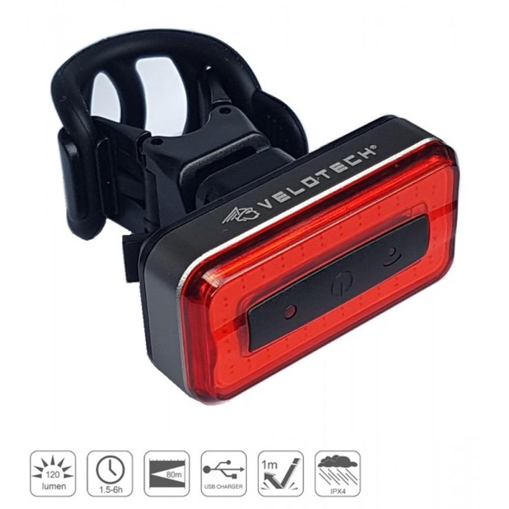 Lámpa hátsó Velotech Brick Pro 30 led