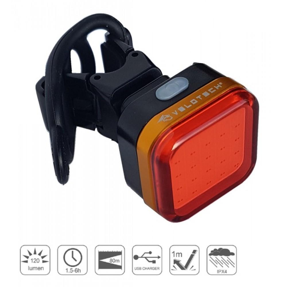Lámpa hátsó Velotech Pro Quad 120
